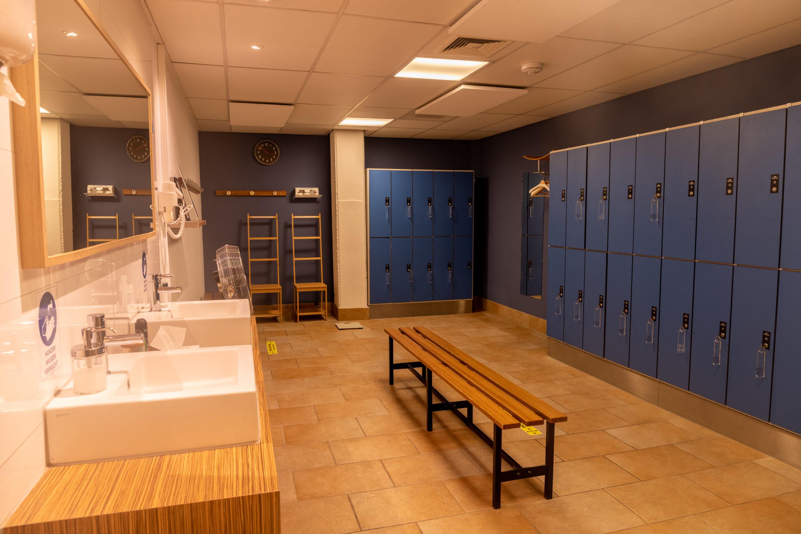 Afbeelding van een kleedkamer in Den Haag